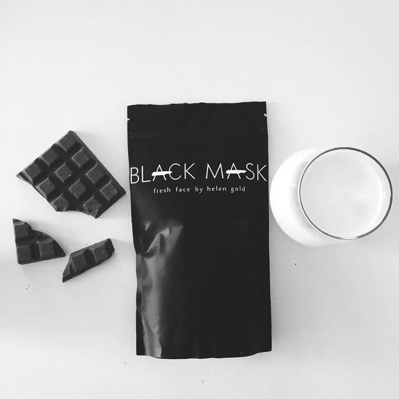 Как правильно нанести маску на лицо чёрную